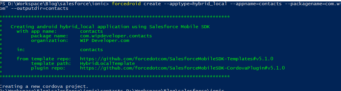 Saleforce Mobile SDK and Ionic – Setup the Mobile SDK