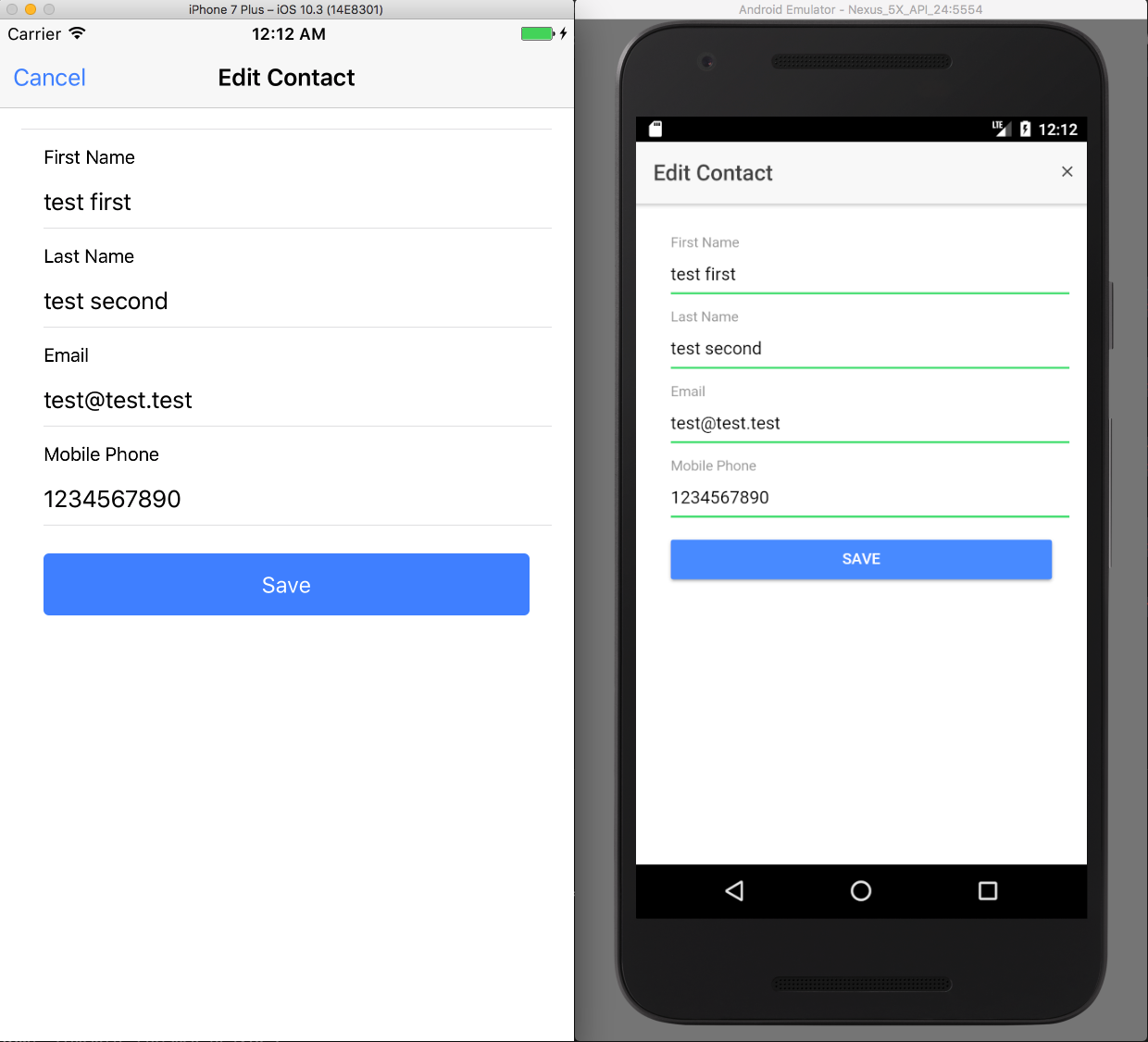 Salesforce Mobile SDK and Ionic - Styling Forms
